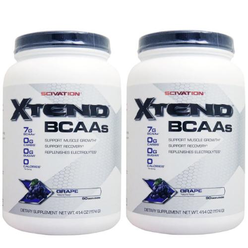 【2個セット】[ 大容量約1.2kg ] エクステンド (BCAA+Lグルタミン+シトルリン) ※グレープ¬