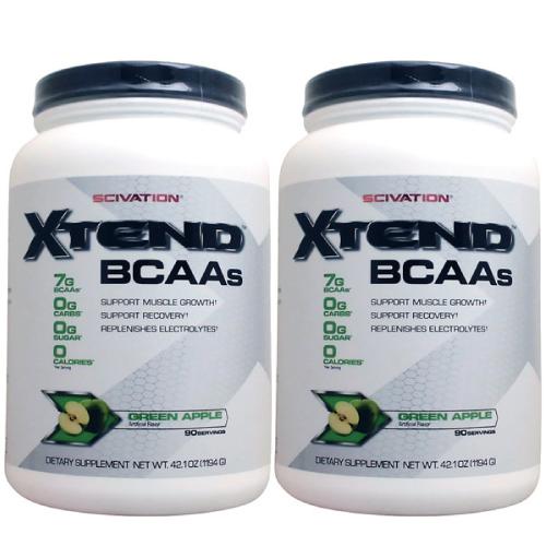 【2個セット】[ 大容量約1.2kg ] エクステンド (BCAA+Lグルタミン+シトルリン) ※グリーンアップル¬