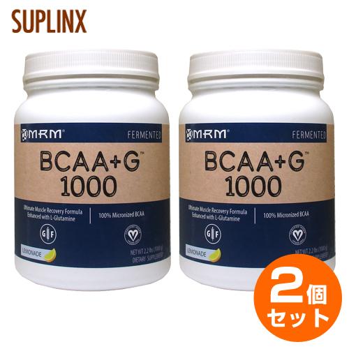 【2個セット】【送料無料】[ 大容量1kg ] BCAA(分岐鎖アミノ酸)+Lグルタミン ※レモネード 1000g(049-71027)