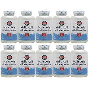 【10個セット】リンゴ酸&マグネシウム 120粒 [サプリメント/健康サプリ/サプリ/ミネラル/マグネシウム/栄養補助/栄養補助食品/アメリカ/タブレット/サプリンクス] ¬