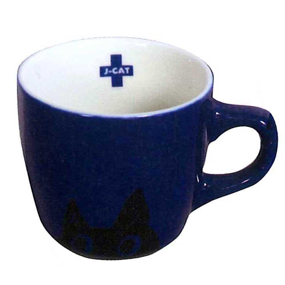 ユーモラスな表情たっぷりのJ-catが可愛いマグカップになりました ノアファミリーJ-CAT+ 安全 ブルー カラーマグ 購入