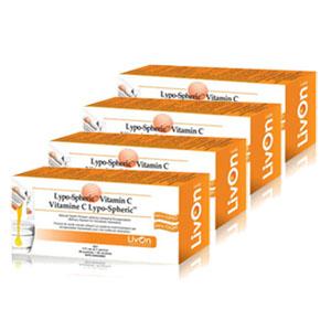 【送料無料4個セット】リポスフェリック ビタミンC 1000mg(30袋×4)高濃度ジェルサプリメント Lypo-Spheric VitaminC【smtb-KD】