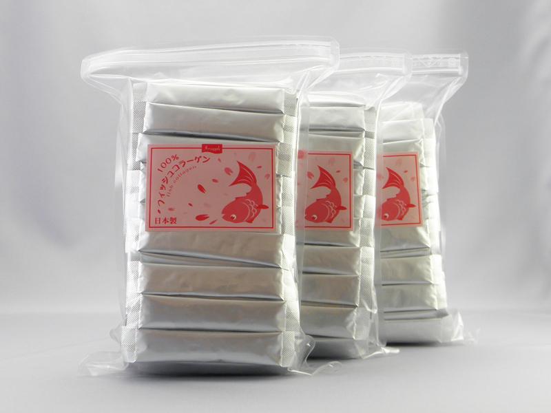 100%フィッシュコラーゲン顆粒(3袋セット)◆単品より10%OFF◆