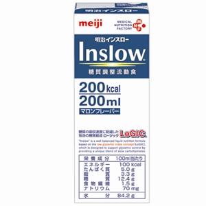 株式会社明治(旧明治乳業)明治Inslow 200ml×48本(2ケース)(この商品は到着までに3-10日かかります・ご注文後のキャンセルは出来ません)