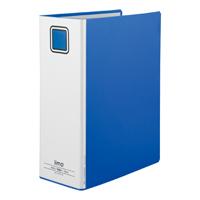 KKY EM-FURT6100BX10パイプ式ファイル エコノミー両開きA4縦 青 10冊【@iimo】