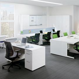 コクヨ iS スタンダードテーブル(D700・H720) センター引出し付きタイプ W1600