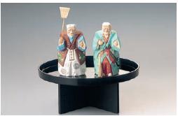 Yuinoh-A035-09 結納セット(桂由美コレクション・木彫り1号・約18cm)