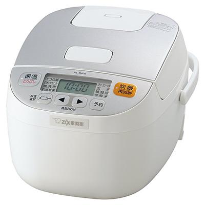 象印マイコン炊飯器3合ホワイト NL-BA05-WA
