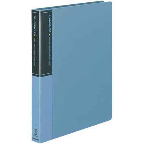 コクヨ クリヤーブックタフネス替紙A4背幅33mm青×10