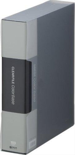 キングジム クリアーファイルカラーベースクイント 黒 132-5Cクロ 00734912 【まとめ買い3冊セット】