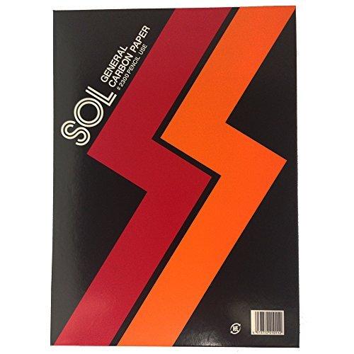 ゼネラル ゾル・カーボン紙(両面)#2300 赤 2300 アカ 00001474 【まとめ買い3セット】