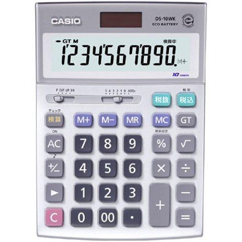 カシオ カシオデスク型電卓 DS-10WK-N 00857077 【まとめ買い3個セット】