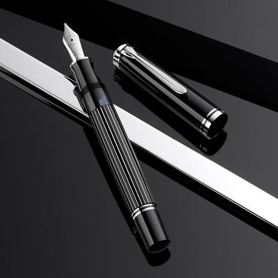 【送料無料】《特別生産品》ペリカン 万年筆 スーベレーン M815 メタルストライプ 1806SE
