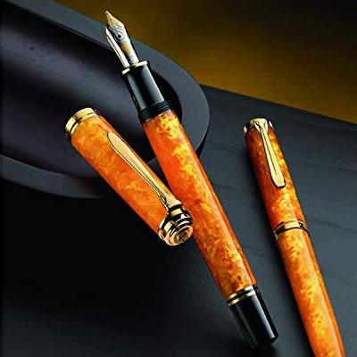 【送料無料】《特別生産品》ペリカン 万年筆 スーベレーン M600 ヴァイブラントオレンジ 1810SE