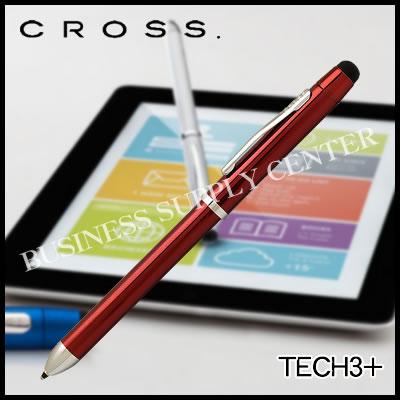 【宅配便】CROSS(クロス) 複合ペン TECH3+(テックスリープラス) ニューラッカーフィニッシュ トランスルーセントレッドラッカー AT0090-13