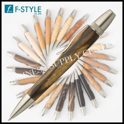 【送料無料】F-STYLE(エフスタイル) Wood Pen(銘木ボールペン) 黒柿/くろかき しま杢 SP15305