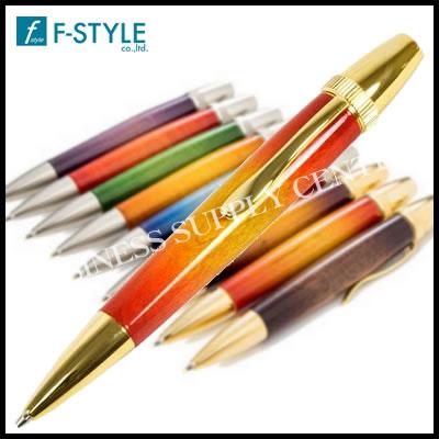 【送料無料】F-STYLE(エフスタイル) Air Brush Wood Pen San Burst(サンバーストギター塗装) 楓/メープルウッド ボールペン TGT1610