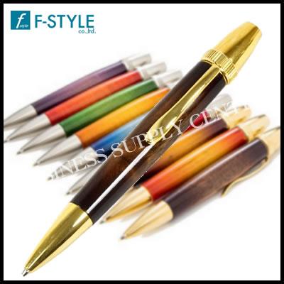 【送料無料】F-STYLE(エフスタイル) Air Brush Wood Pen San Burst(サンバーストギター塗装) 胡桃/ウォールナット ボールペン TGT1610