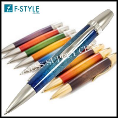 【送料無料】F-STYLE(エフスタイル) Air Brush Wood Pen San Burst Candy Color/BL(キャンディカラーギター塗装) カーリーメイプル ブルー ボールペン TGT1611