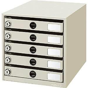 コクヨ KOKUYO LC-K5M 鍵付きレターケース レターガード5段鍵付き