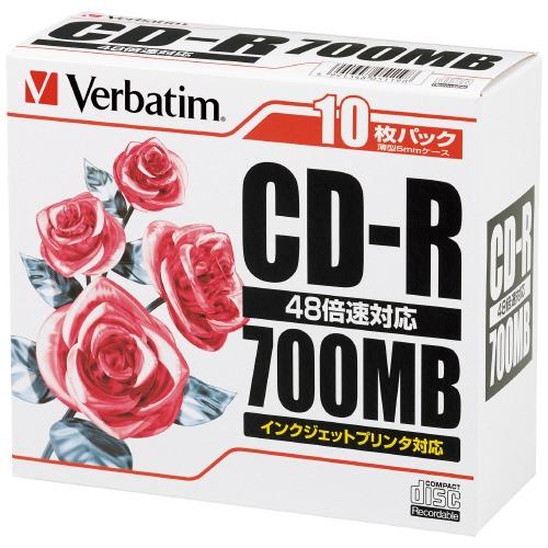 三菱ケミカル CD-R 700MB SR80PP10 10枚
