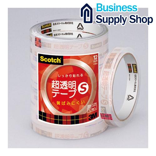 超透明テープS BK-12N 工業用包装 300巻