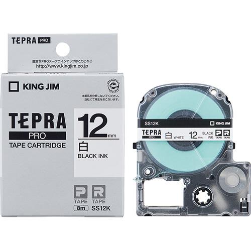 正規認証品!新規格 2020春夏新作 キングジム テプラPROテープ SS12K 12mm 白に黒文字
