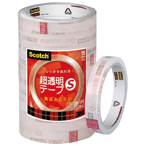 超透明テープS BK-15N 工業用包装 200巻