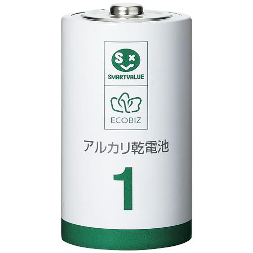プラス アルカリ乾電池3 単1×100本 N211J-10P-10