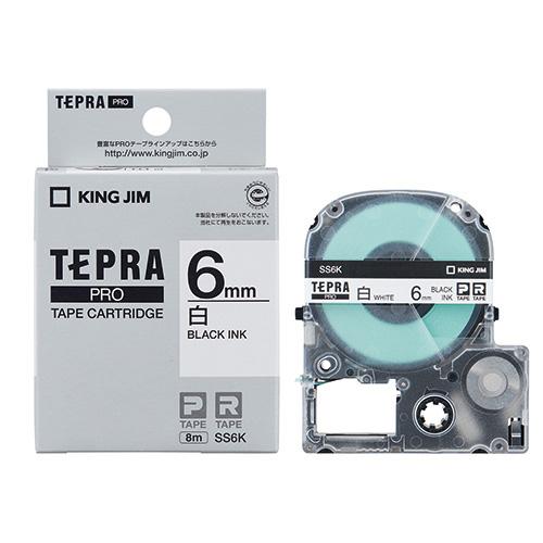 PROテープ SS6K-20 白に黒文字 6mm 20個