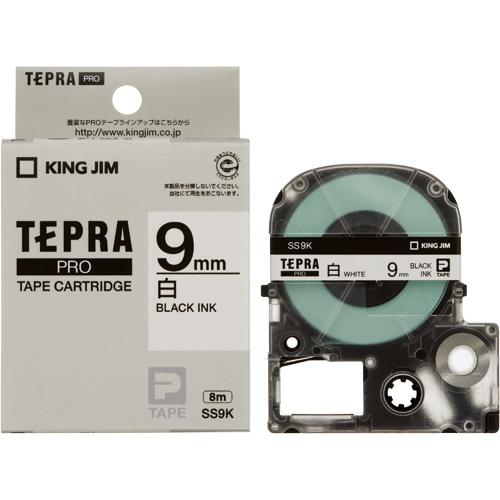 PROテープ SS9K-20 白に黒文字 9mm 20個