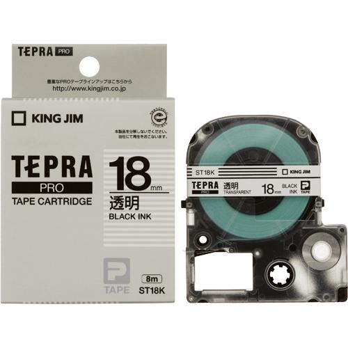 PROテープ ST18K-20 透明に黒字 18mm 20個