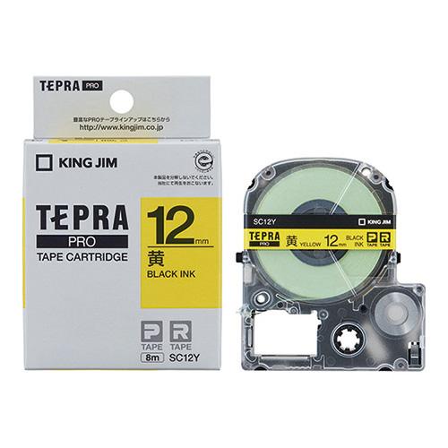 PROテープ SC12Y-20 黄に黒字 12mm 20個
