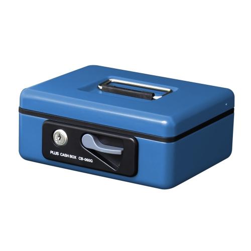 プラス 特別セール品 未使用 PLUS 金庫 小型 手提金庫 12861 CB-060G S ブルー