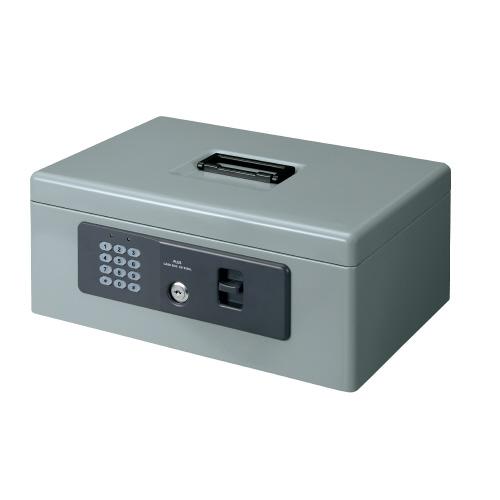 プラス(PLUS)金庫 電子ロック 手提金庫 FL型 Mサイズ A4 グレー CB-020HL 13101