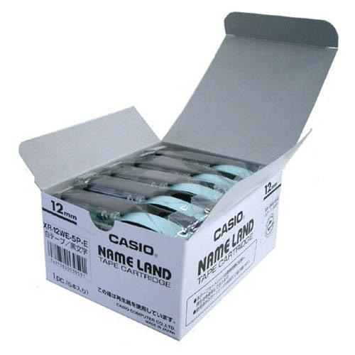 テープ XR-12WE-20P-E 白に黒文字 12mm20個