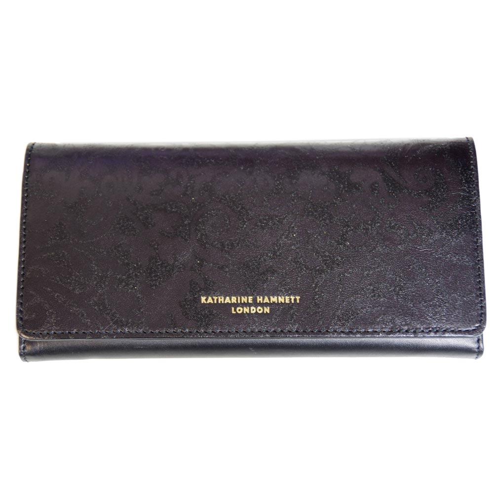 キャサリンハムネット KATHARINE HAMNETT 長財布 ブラック 本革 新品箱付 P49510