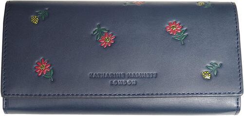 KATHARINE お気にいる HAMNETT 与え キャサリンハムネット 長財布 P47630 本革 新品 ネイビー
