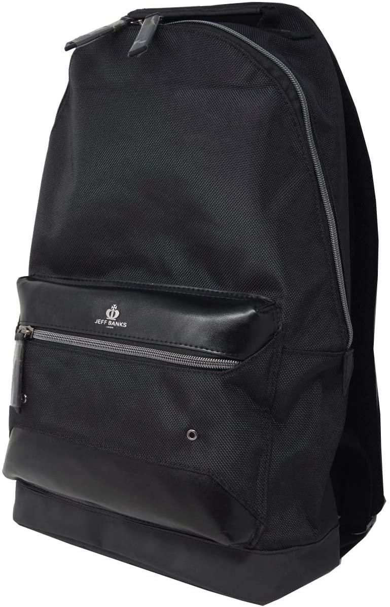 Jeff Banks 誕生日プレゼント ジェフバンクス 大注目 リュックサック B16010 新品 ブラック バッグパック
