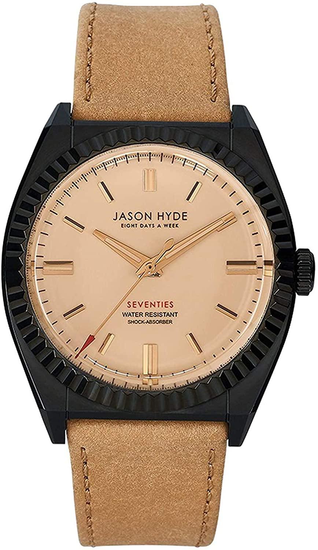 JASON HYDE ジェイソン ハイド デポー いよいよ人気ブランド 腕時計 メンズ Amber JH10014 パピル アンバー ブラック×ベージュ