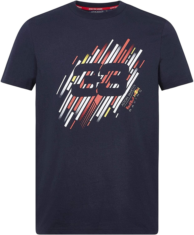 人気ブランド Branded Sports Merchandising B.V. Red ふるさと割 Bull Racing Max ナンバーTシャツ F1 M Verstappen ブルー