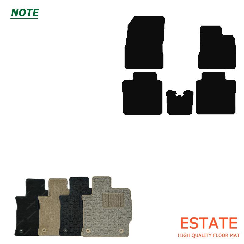日産 ノート・カーマット/フロアマットナチュラルシリーズ・ニッサン NISSAN・E11・E12・2005/1~2012/8・2012/9~