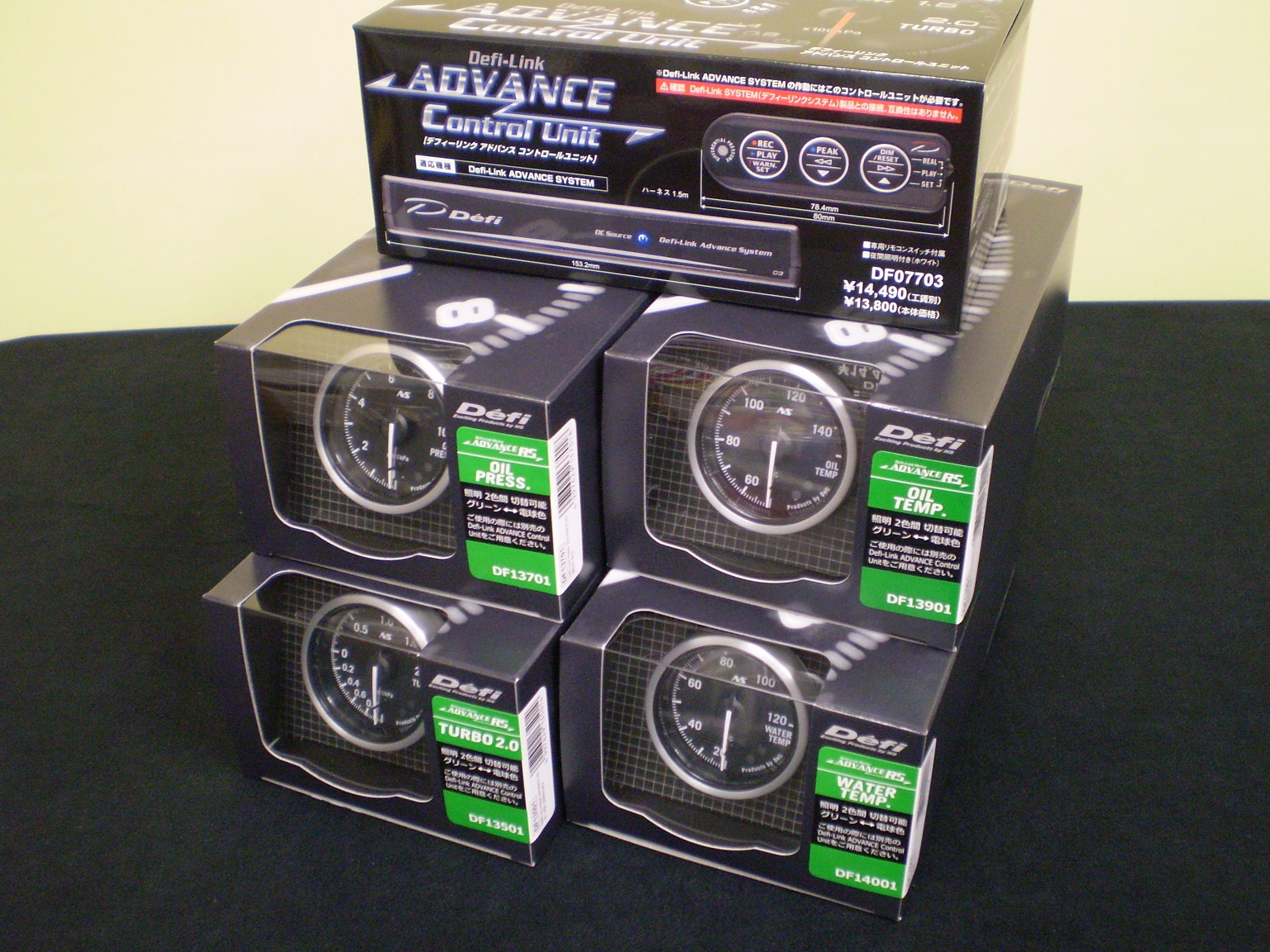 日本精機 Defi デフィ ADVANCE RS 52Φ ブースト計(ターボ計)&水温計&油温計&油圧計&アドバンスコントロールユニット 5点セット「送料無料!!」