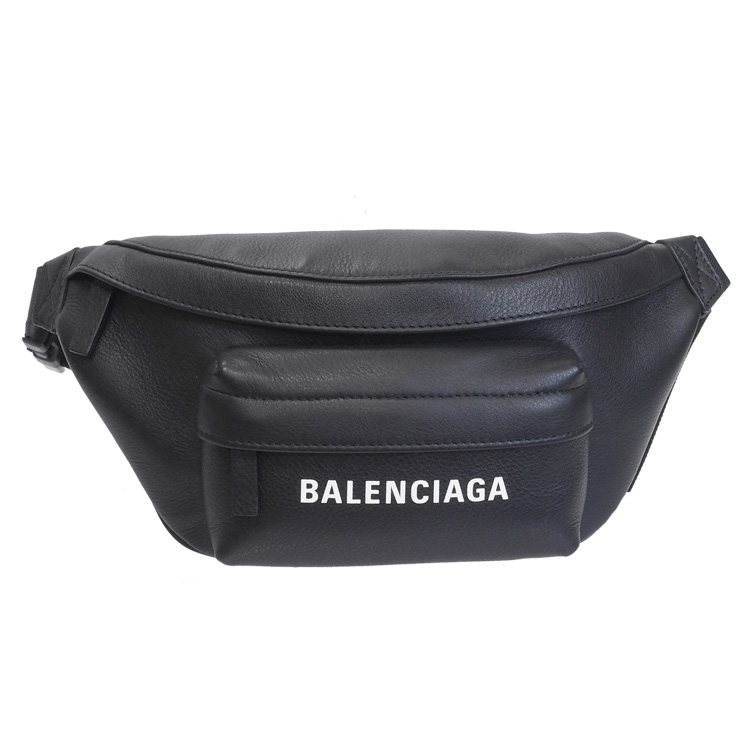 バレンシアガ BALENCIAGA ボディバッグ メンズ ウエストポーチ エブリデイ ロゴ ベルトパック ブラック 579617-DLQQN-1000【SPRING SALE】