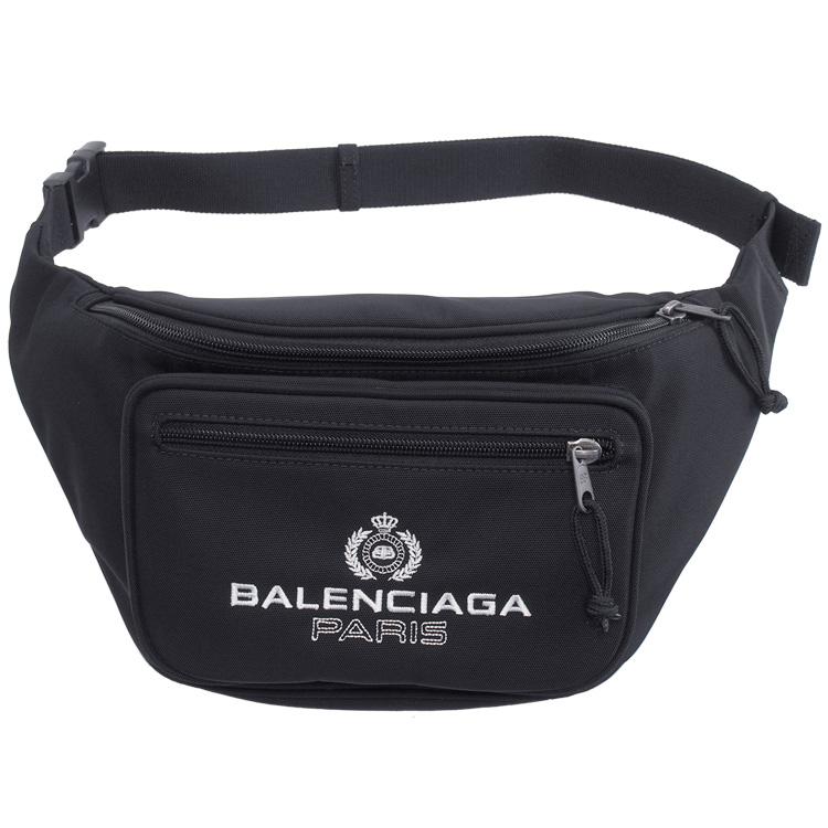 バレンシアガ BALENCIAGA バックパック メンズ ウエストポーチ ブラック 482389-9WB55-1000【SPRING SALE】