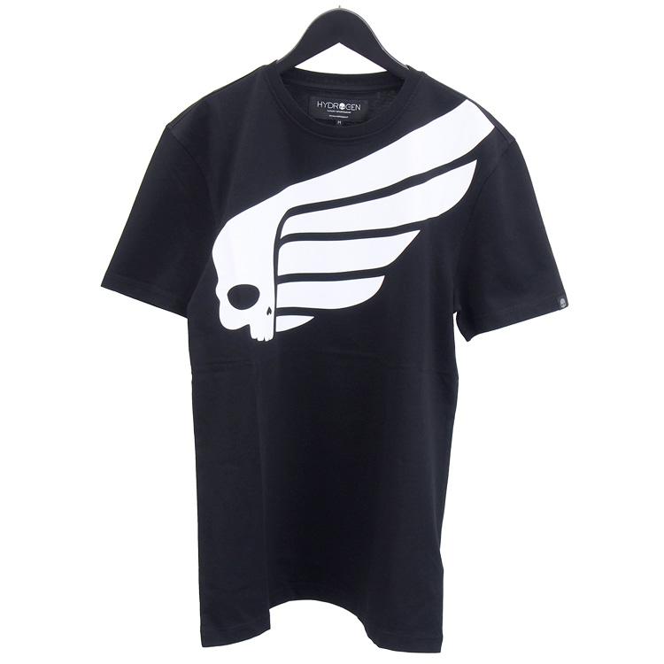 ハイドロゲン HYDROGEN Tシャツ 半袖 265608-118_BLACK/WHITE ブラック
