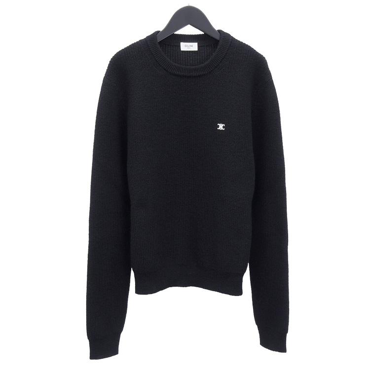 セリーヌ CELINE ニット セーター トリオンフ刺繍 2A709439F-38NO ブラック