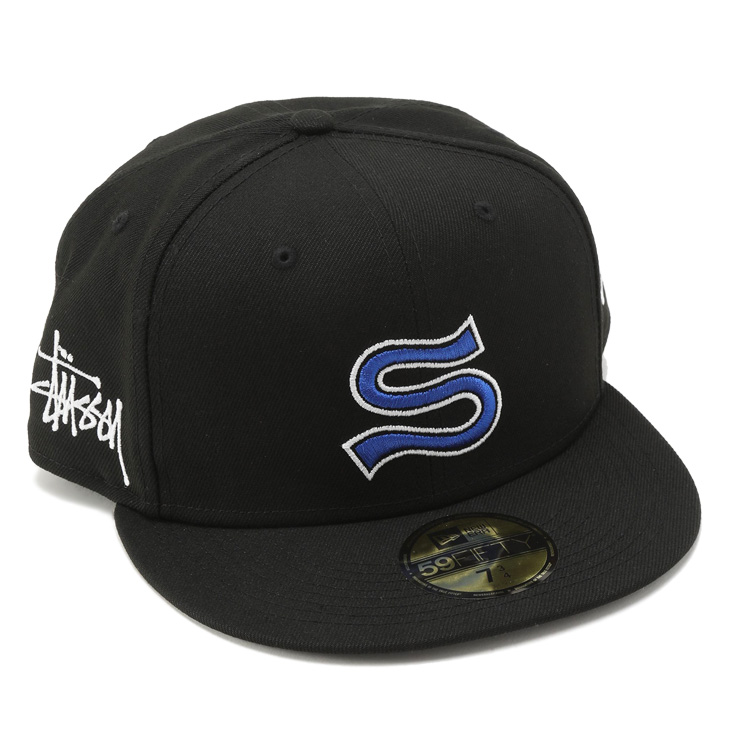 ステューシー キャップ STUSSY×NEW 現品 ERA Emblem 引出物 Ballcap Fitted BLACK131976 STUSSY 131976-BLACK