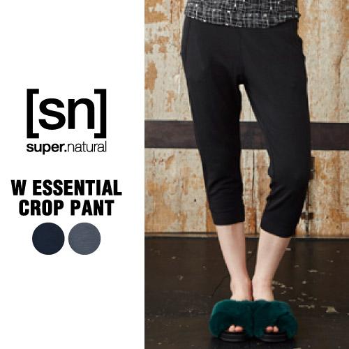 SN / スーパーナチュラル / レデイース / W Essential Crop Pant / ウールフリースパンツ /【SNW003154】/ (エスエヌ・スーパーナチュラル)[sn] super.natural レディース ヨガ パンツ