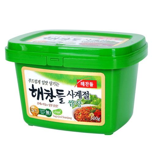 韓国食品■韓国食材■味噌■韓国味噌■焼肉用たれ■ソース■豚バラ■サンギョッサル 高級品 ヘチャンドル サムジャン1kg 超特価